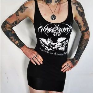Nargaroth Prosatanica Shooting Angels Mini Dress